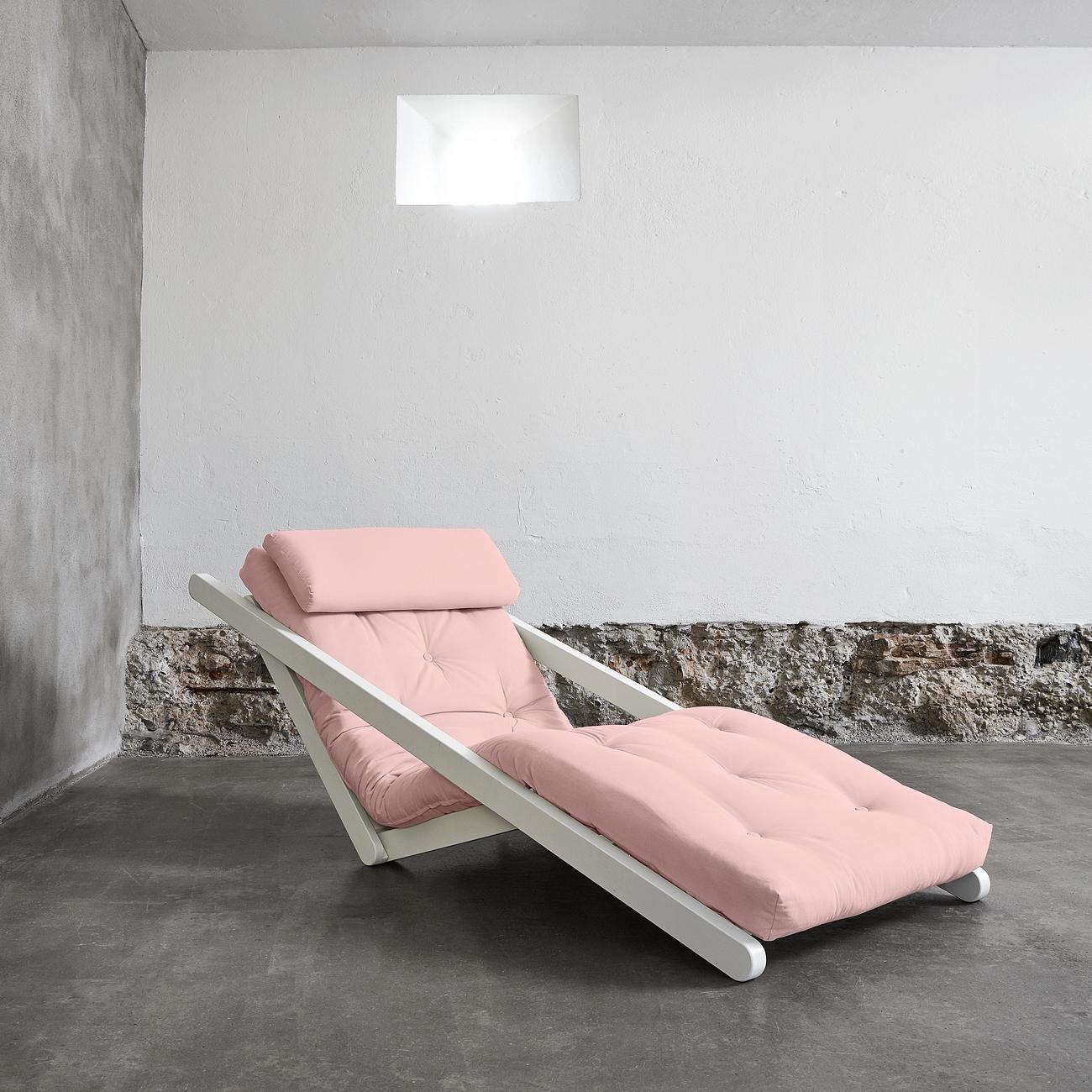 Fotoliu extensibil Figo White Pastel Pink title=Fotoliu extensibil Figo White Pastel Pink