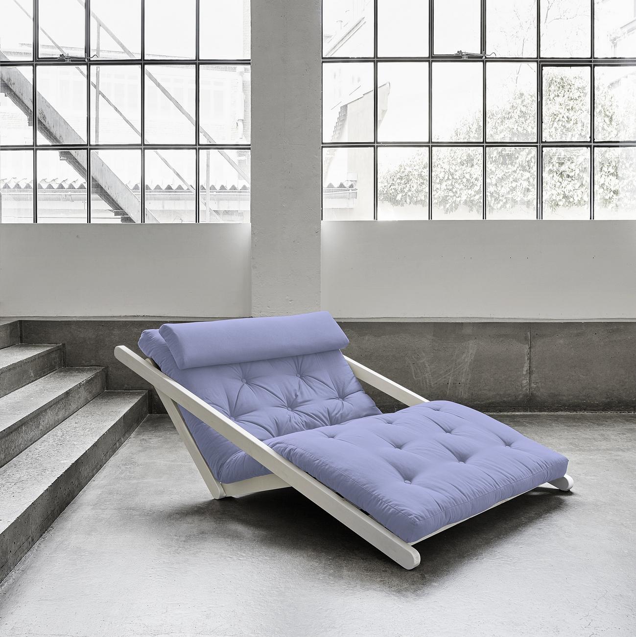 Canapea extensibila Figo White Pastel Blue Breeze