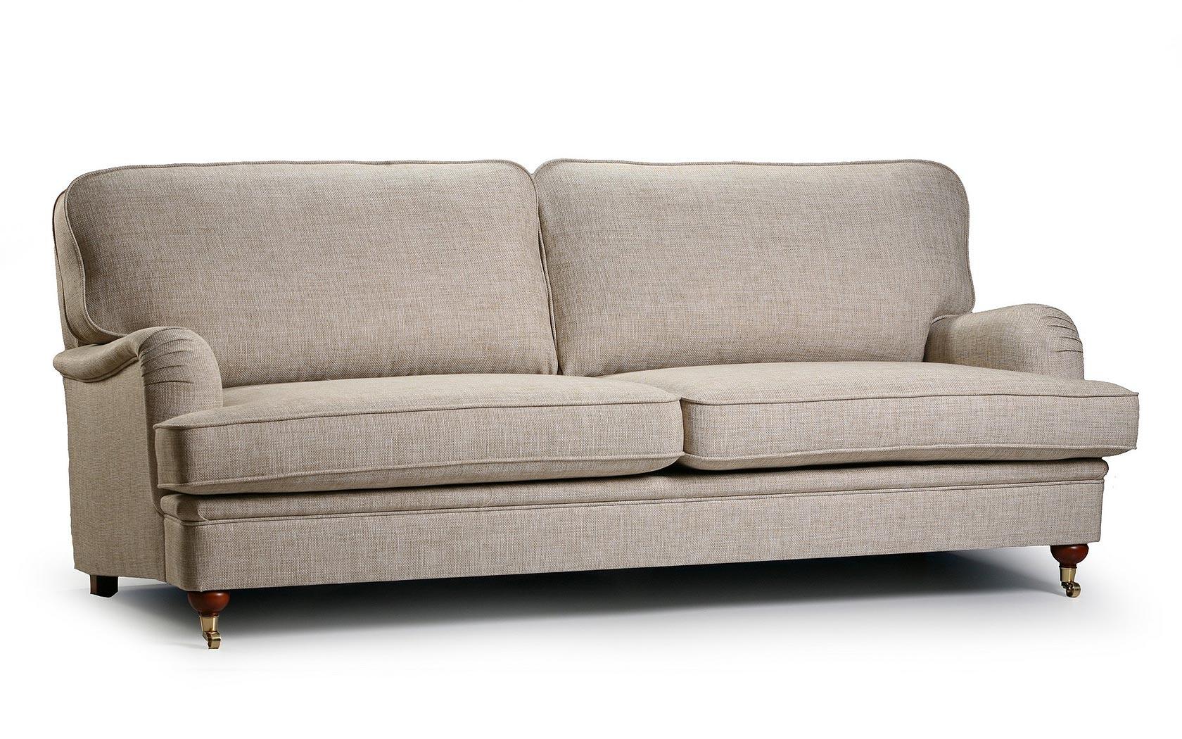 Canapea fixa 3 locuri tapitata cu stofa Winston
