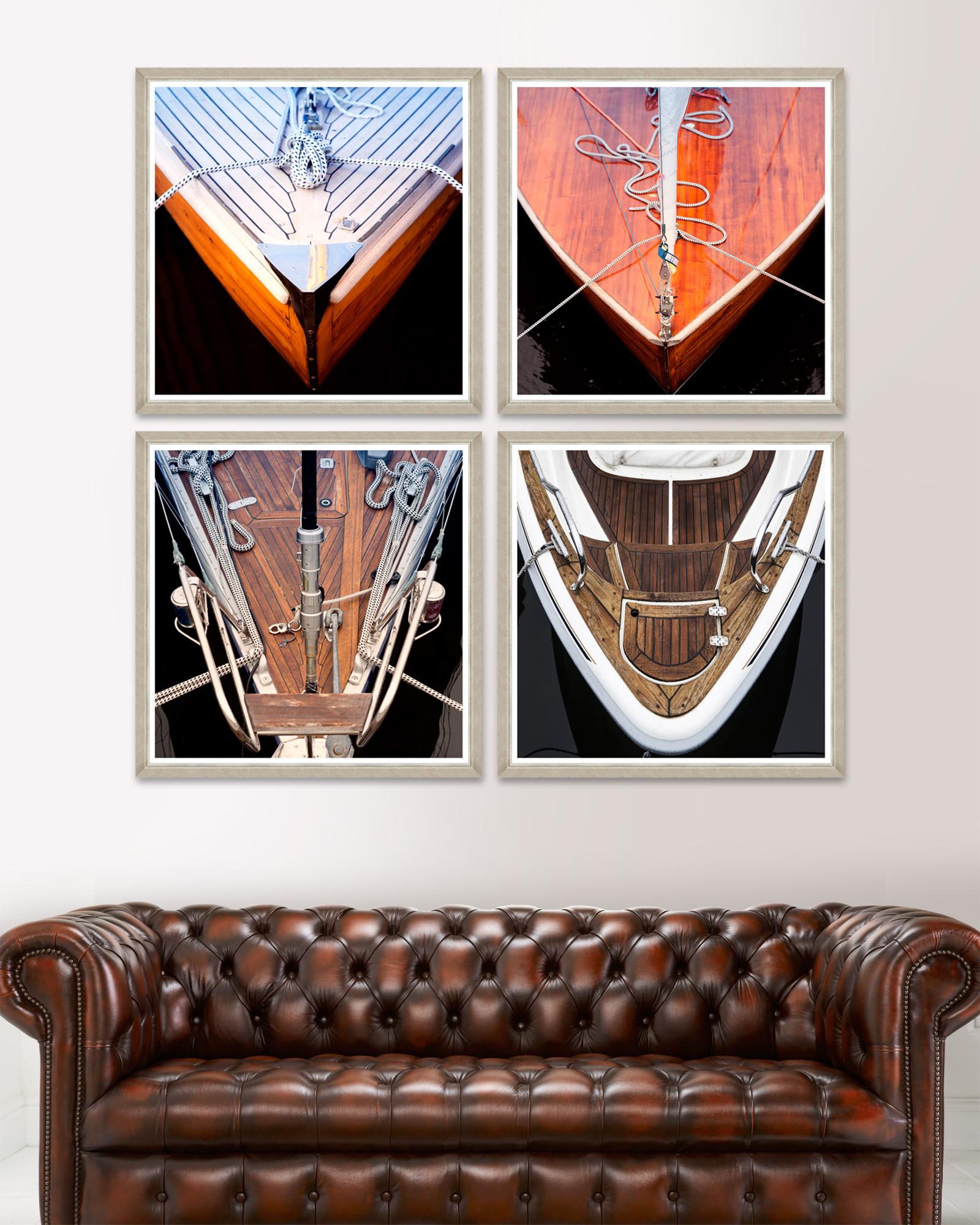 Tablou 4 piese Framed Art Wood Boat Fronts imagine