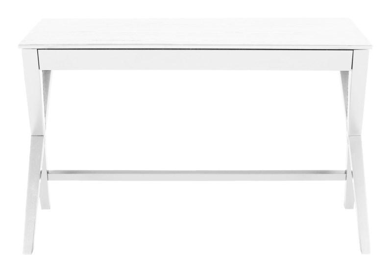 Masa de birou din lemn si furnir Writex White, L120xl60xh75 cm