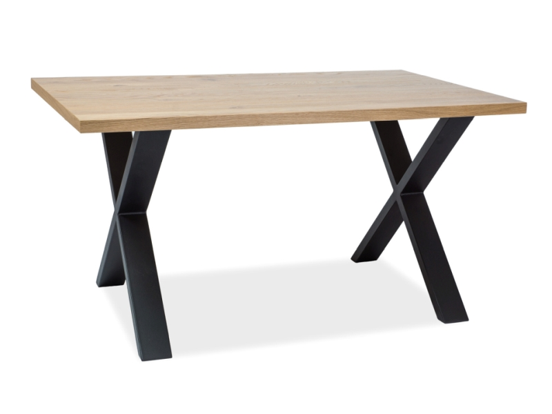 Masa din metal si lemn de furnir Xaviero II L150xl90xh78 cm