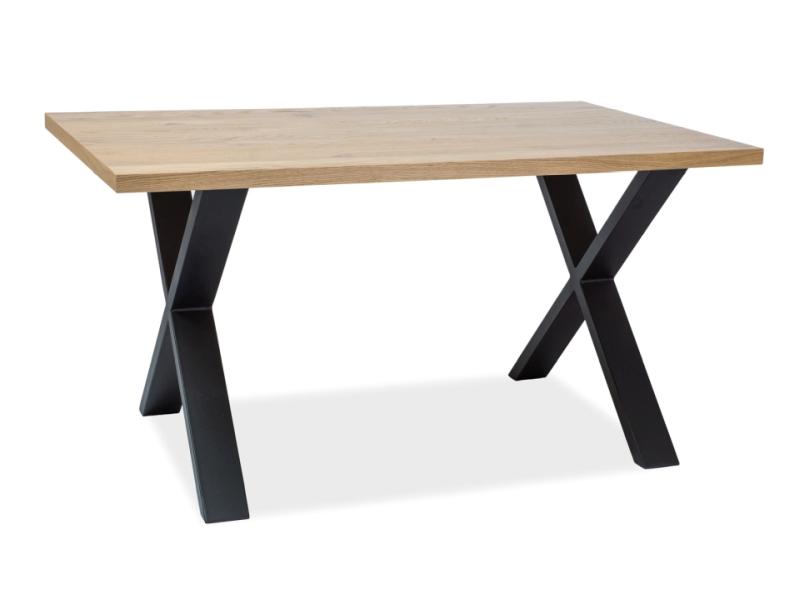 Masa din metal si lemn de stejar Xaviero II Dab L180xl90xh78 cm