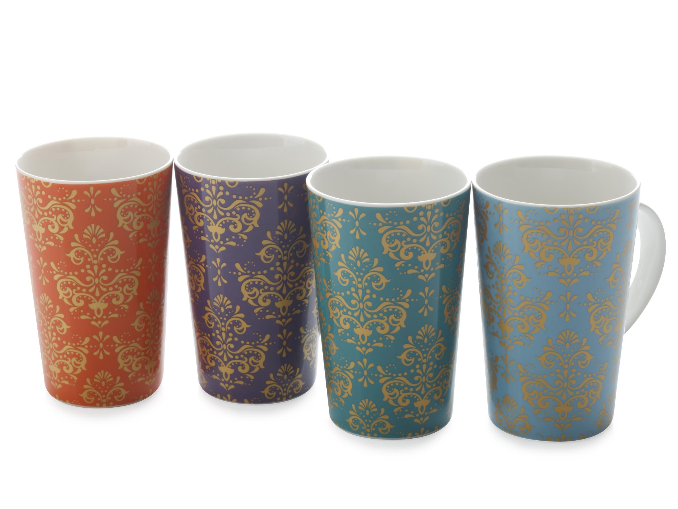 Set 4 Cani Gold Filigree, Mugs, 400 ml