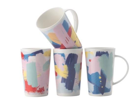 Set 4 Cani Colour Bold  Mugs  420 Ml