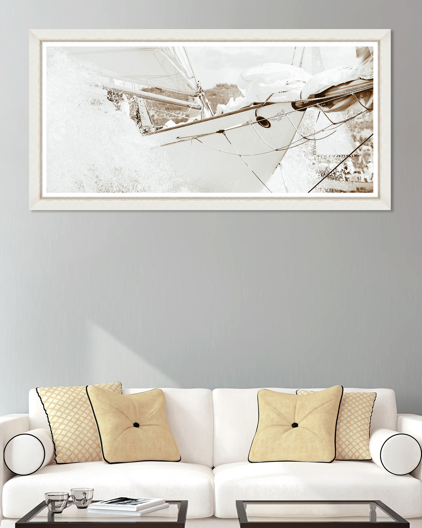 Tablou Framed Art Yachting Sepia imagine