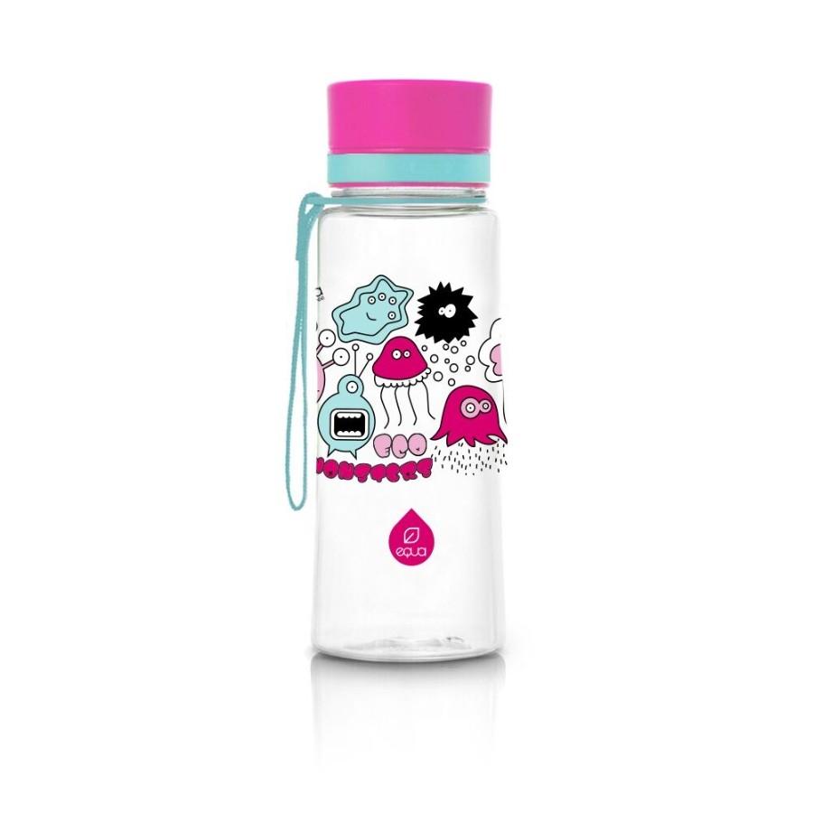 Sticla pentru apa Equa Pink Monsters -600 ml imagine