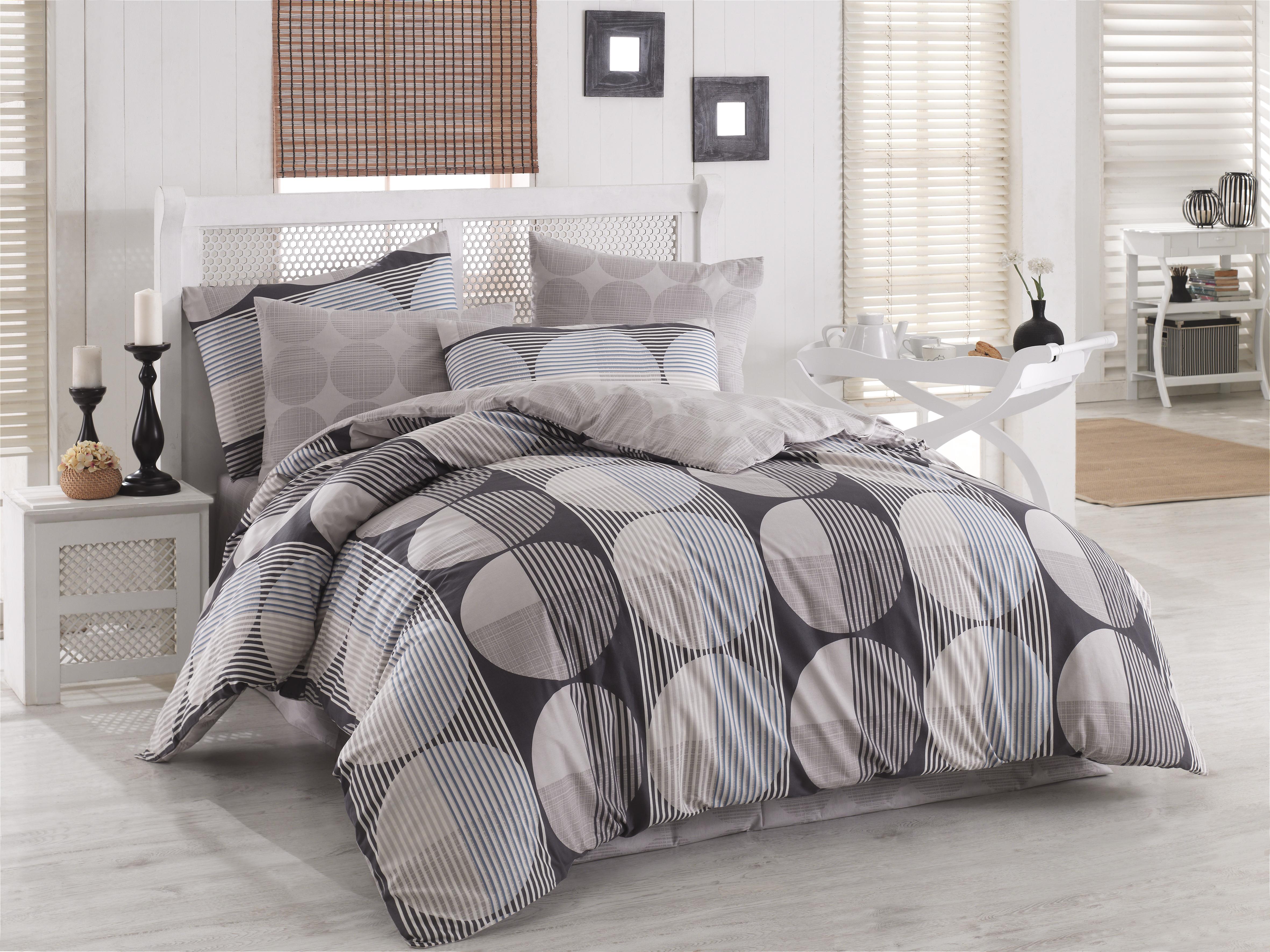 Lenjerie de pat Ranforce Zara V7 Grey imagine